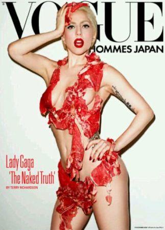 lady gaga 生肉装登Vogue封面