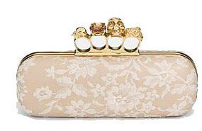 Alexander McQueen 戒指蕾丝宴会手袋
