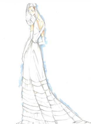 长婚纱设计图手绘
