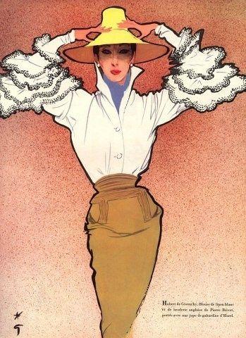givenchy設計手稿,1952年
