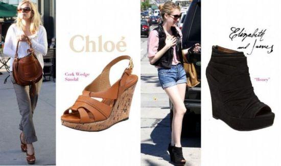 2011今夏最流行 扮靓从楔形凉鞋开始