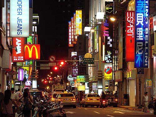 台北彩色西门町里有着浓厚的古早风味