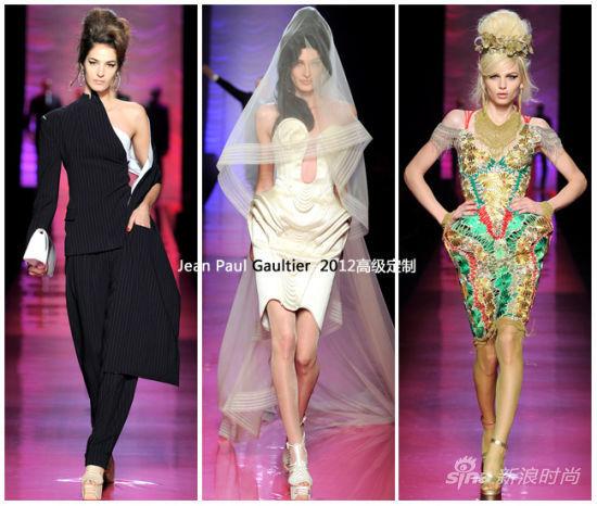 Jean Paul Gaultier 2012巴黎高级定制秀场