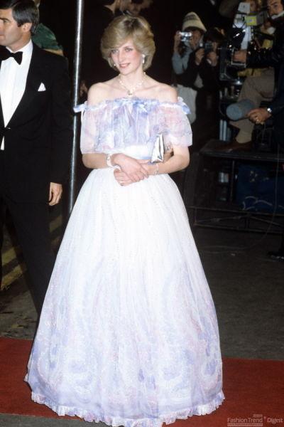 戴安娜王妃,雪纺礼服-无法忘怀 世界上最美丽的华服
