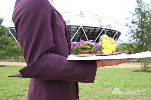 伦敦奥组委公布颁奖花束的造型