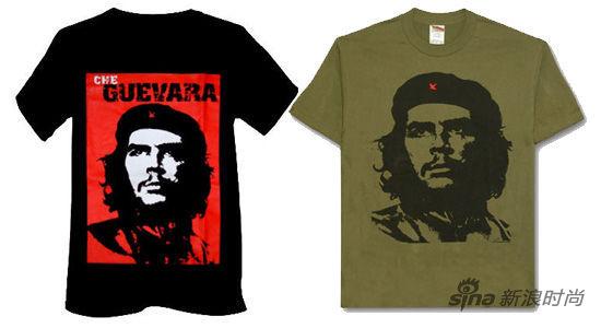 正常版的切-格瓦拉肖像图案T恤