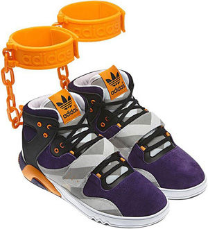 Adidas品牌撤回带公园运动鞋长条形链条景观设计图片