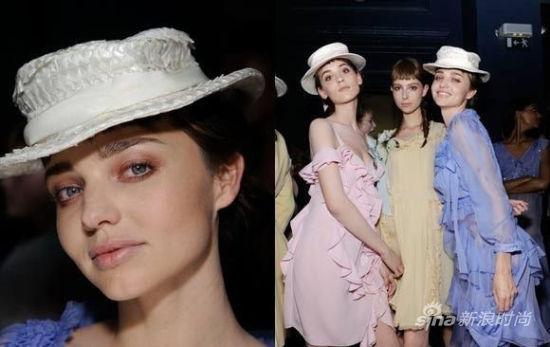米兰达-可儿头戴John Galliano2012春夏礼帽