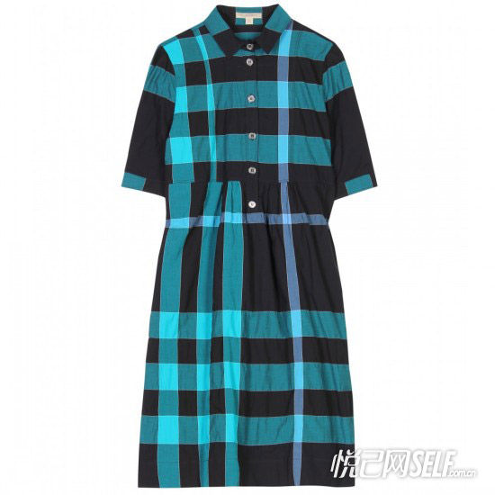 蓝色格子衬衫裙 品牌Burberry Brit 价格1313元