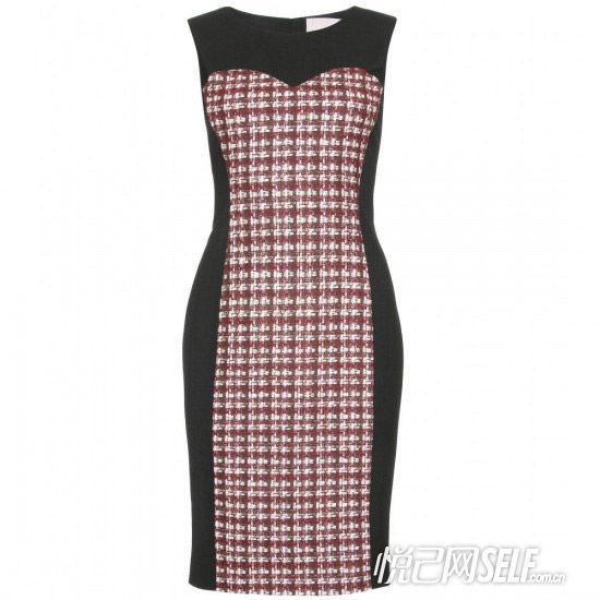 红格子黑色无袖连衣裙 品牌Jason Wu 价格9036元