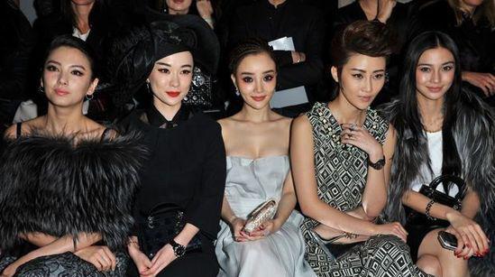 巴黎时装周Dior秀场:中国女郎的集体出击