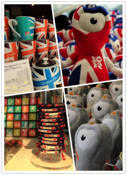 伦敦缤纷的奥运纪念品