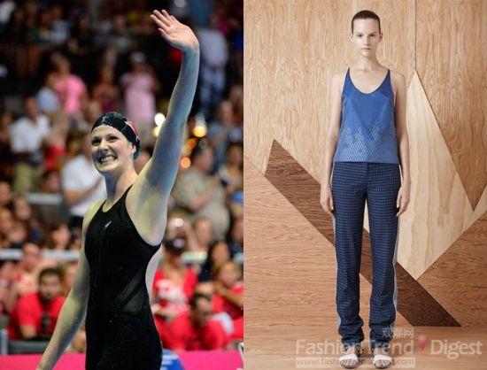 Jen Kao造型灵感来自游泳选手Missy Franklin