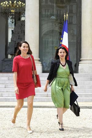 Aurélie Filippetti和Cécile Duflot