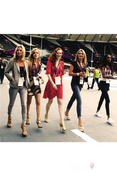 功成名就的大模们亮相伦敦奥运会
