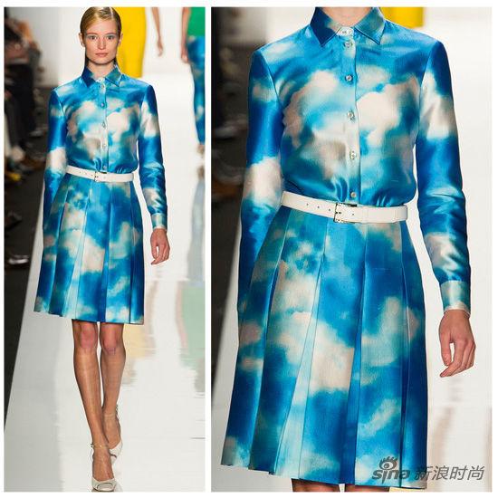 纽约春夏时装周:Michael Kors秀场,身上的蓝天别有情调