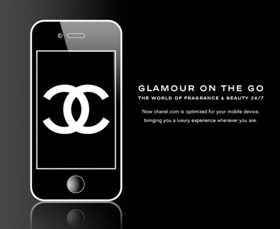 Chanel推出的APP应用,可以在线购买香水护肤品