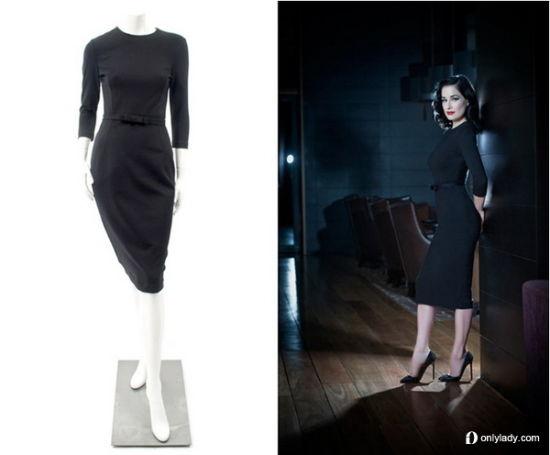 Dita Von Teese 圆领修身款连衣裙 $ 595.00