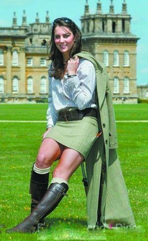 凯特一身英伦风的套装捧红了该品牌的多件单品甚至皮带。(资料图片)