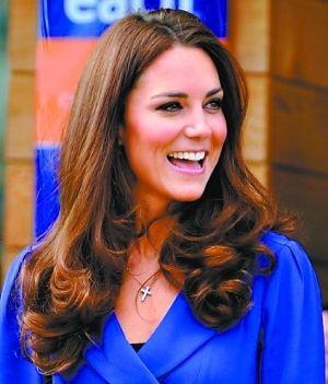 凯特的发型和发色也是英国女性模仿的对象(资料图片)