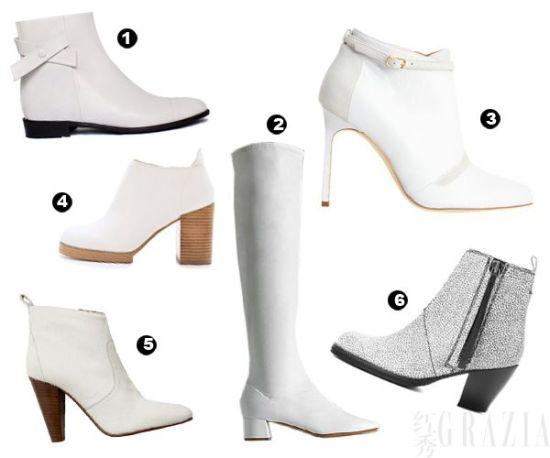白色靴子单品推荐