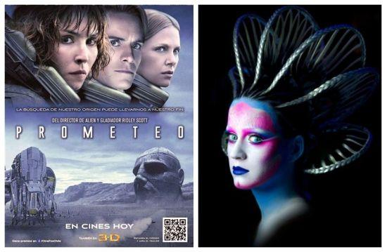 左:电影《普罗米修斯》 右:Katy Perry的ET造型