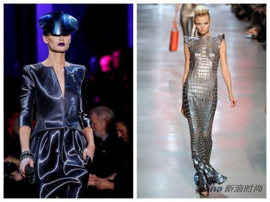 左:Armani Prive2011春夏秀场 右:Paco Rabanne2012春夏秀场