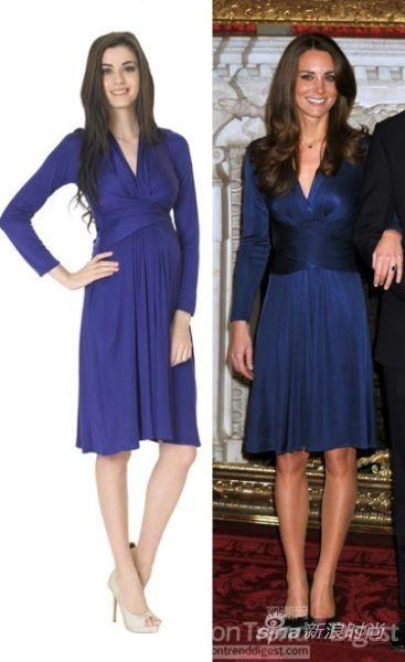 时尚孕妈最受宠 凯特王妃订婚裙推出孕妇版