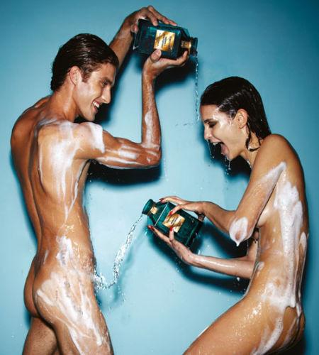男女模特全裸出镜拍摄Tom Ford2011香水广告大片